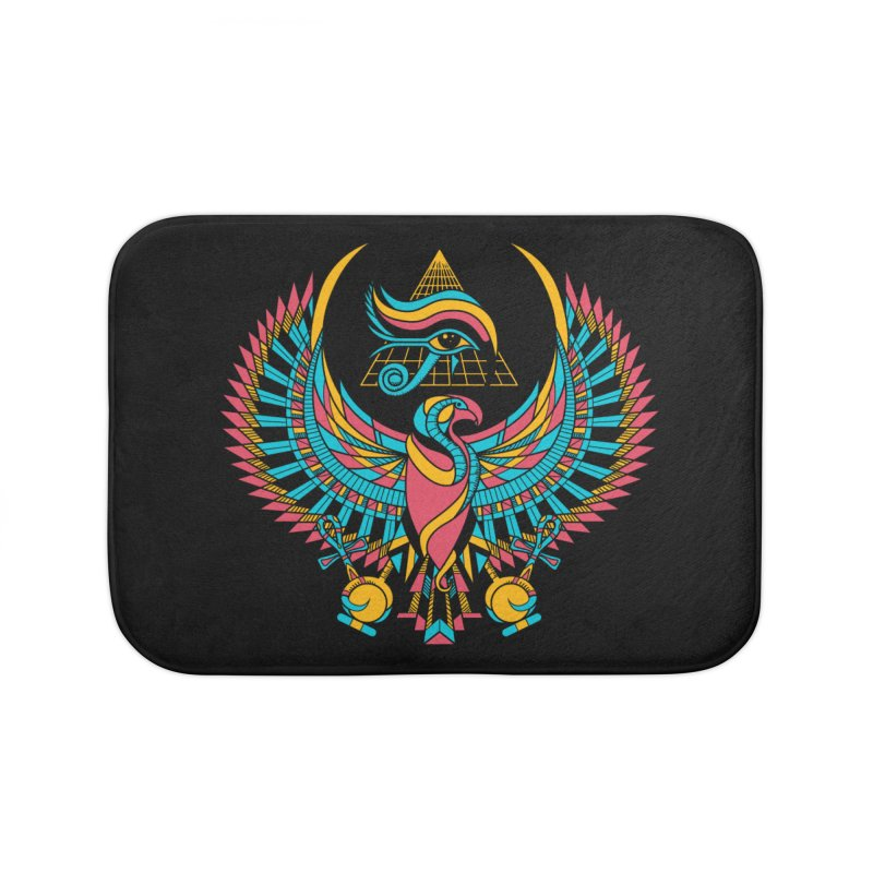 Eye of Horus Home Bath Mat by Qetza