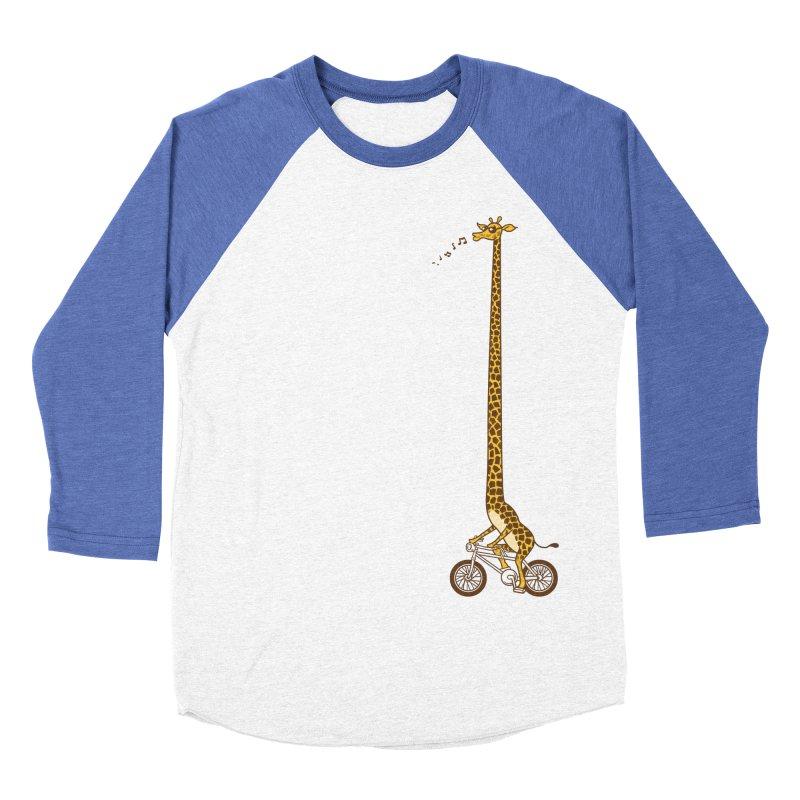 Long Bike Ride Women's Baseball Triblend T-Shirt by Qetza