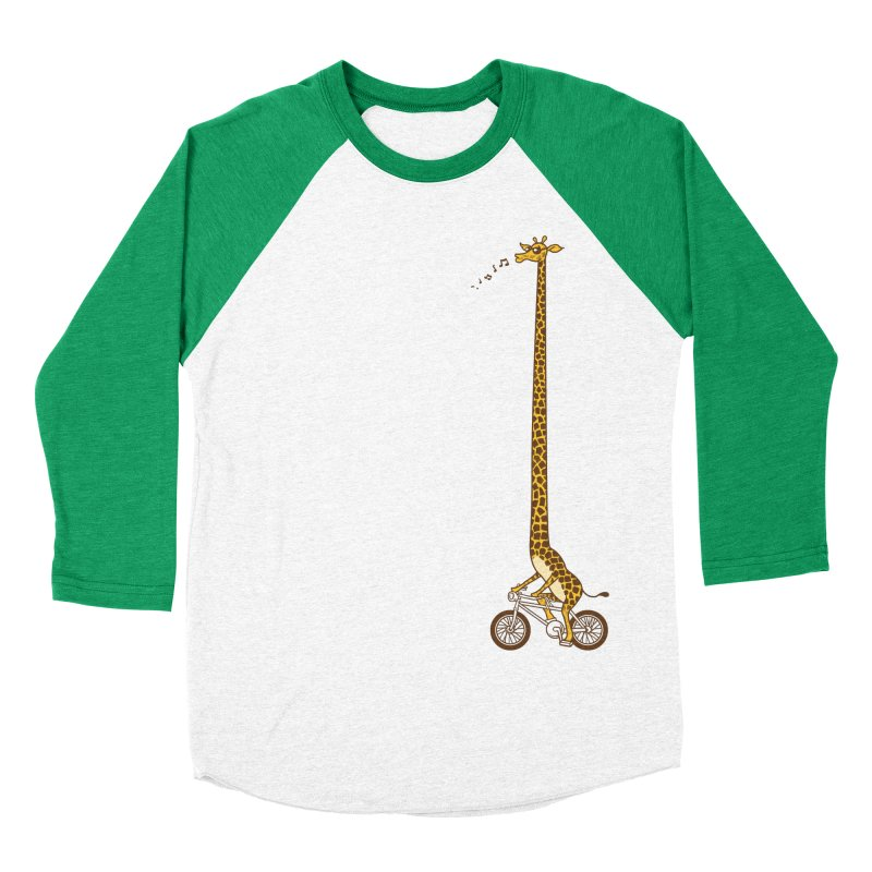 Long Bike Ride Men's Baseball Triblend T-Shirt by Qetza