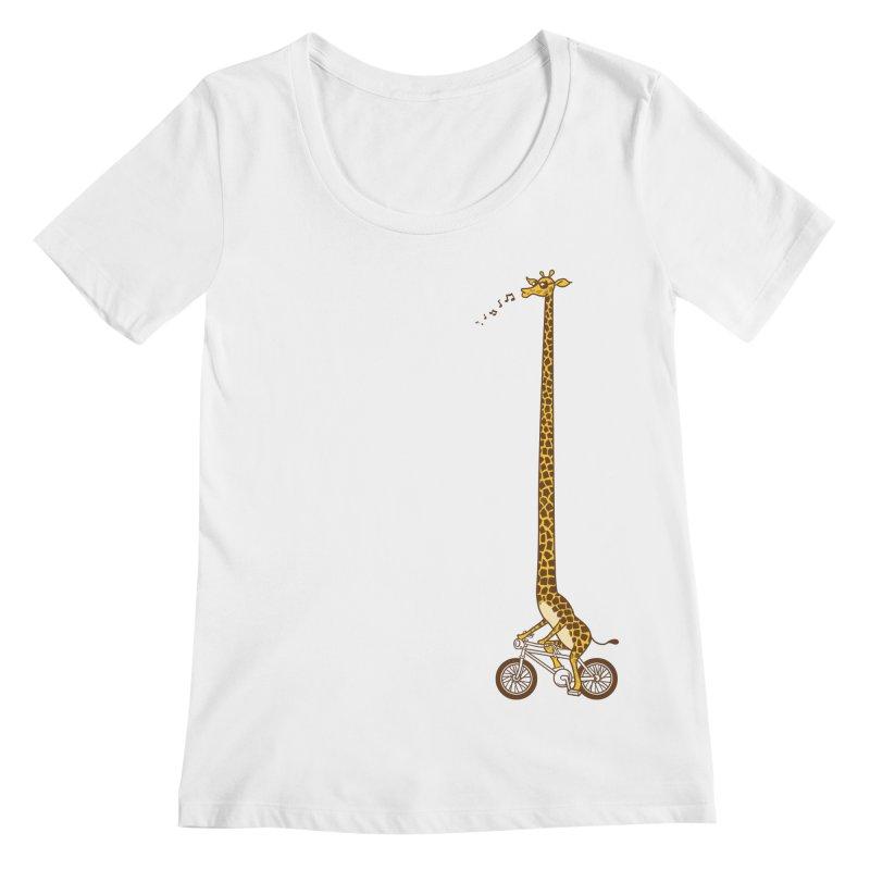 Long Bike Ride Women's Scoopneck by Qetza