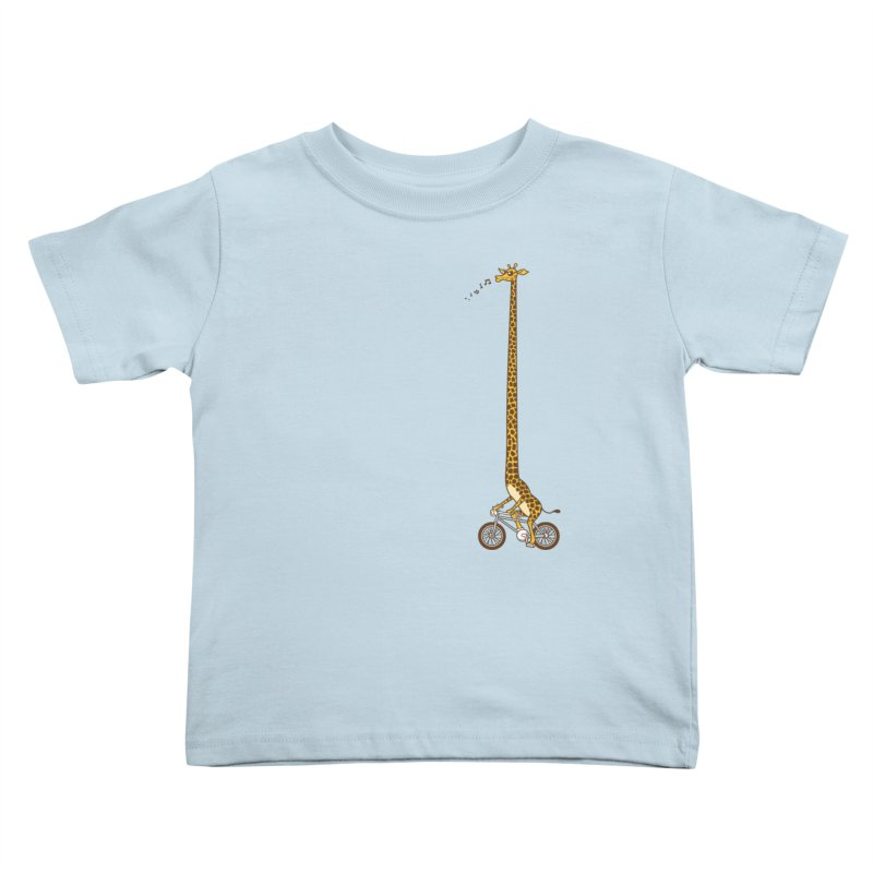 Long Bike Ride Kids Toddler T-Shirt by Qetza