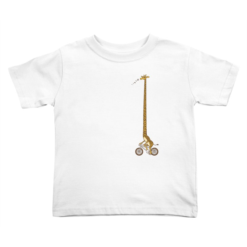 Long Bike Ride Kids Toddler T-Shirt by Qetza