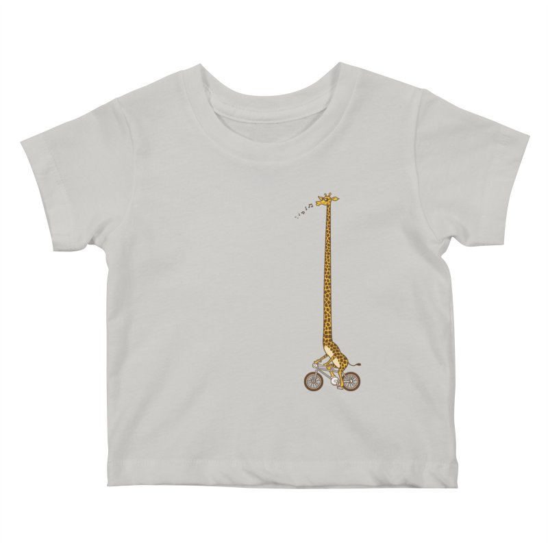 Long Bike Ride Kids Baby T-Shirt by Qetza