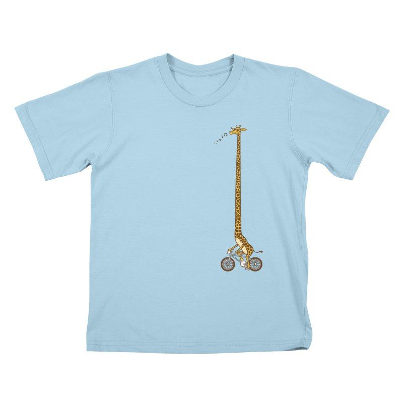 Long Bike Ride Kids T-shirt by Qetza