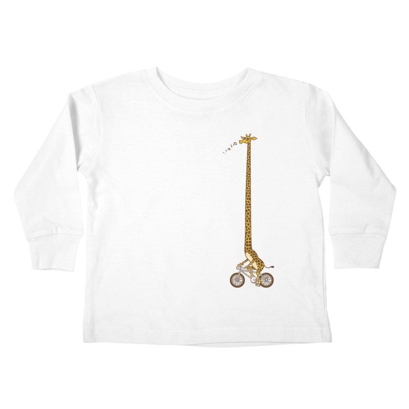 Long Bike Ride Kids Toddler Longsleeve T-Shirt by Qetza