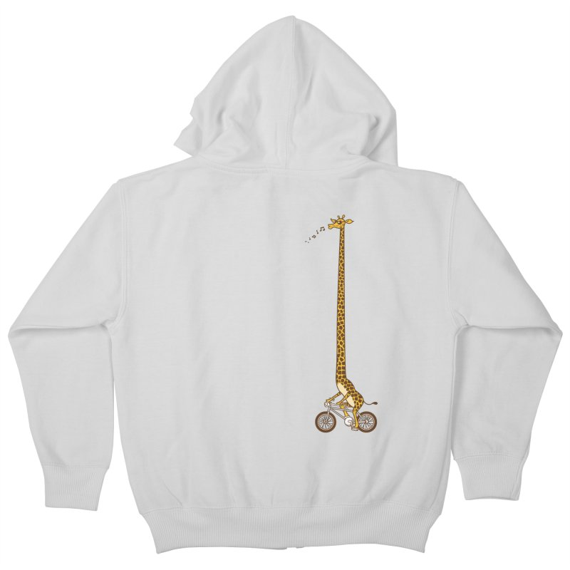 Long Bike Ride Kids Zip-Up Hoody by Qetza