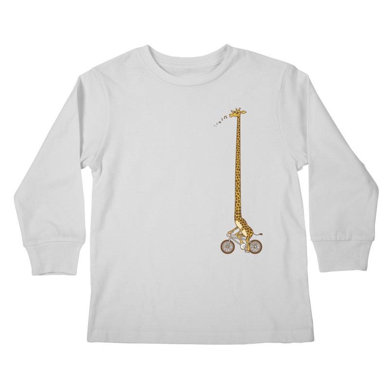 Long Bike Ride Kids Longsleeve T-Shirt by Qetza