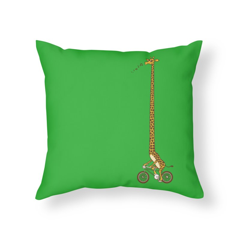 Long Bike Ride Home Throw Pillow by Qetza