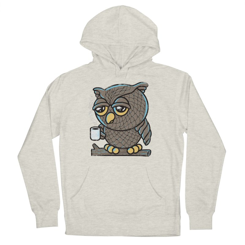 Owl I Want is Coffee Men's Pullover Hoody by Qetza