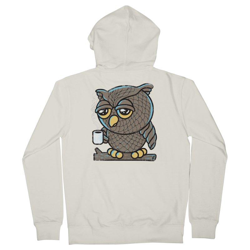 Owl I Want is Coffee Men's Zip-Up Hoody by Qetza