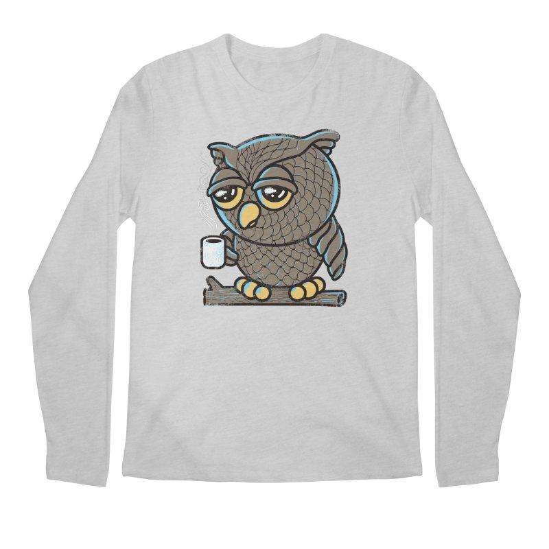 Owl I Want is Coffee Men's Longsleeve T-Shirt by Qetza