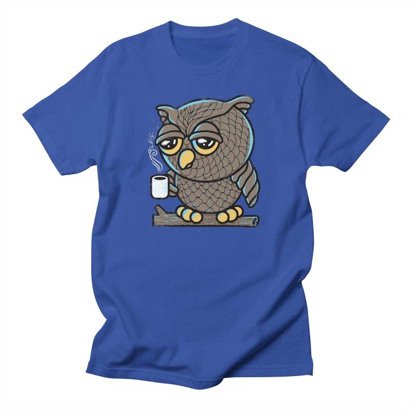 Owl I Want is Coffee Men's T-Shirt by Qetza