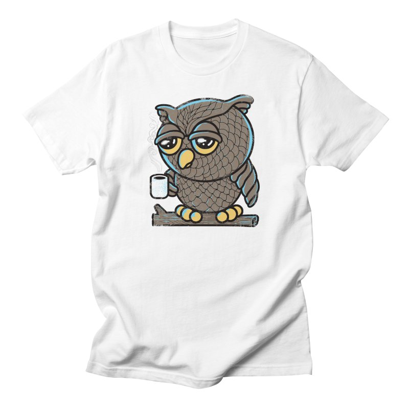 Owl I Want is Coffee Men's T-Shirt by Qetza