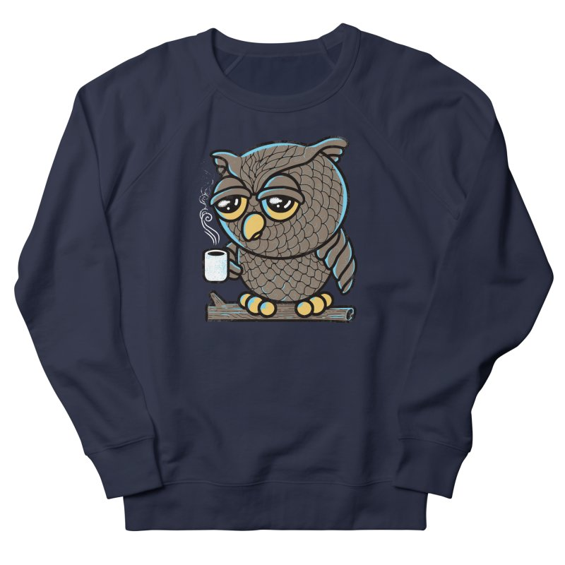 Owl I Want is Coffee Men's Sweatshirt by Qetza