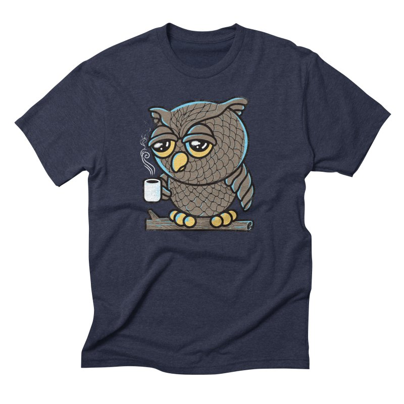 Owl I Want is Coffee Men's Triblend T-Shirt by Qetza