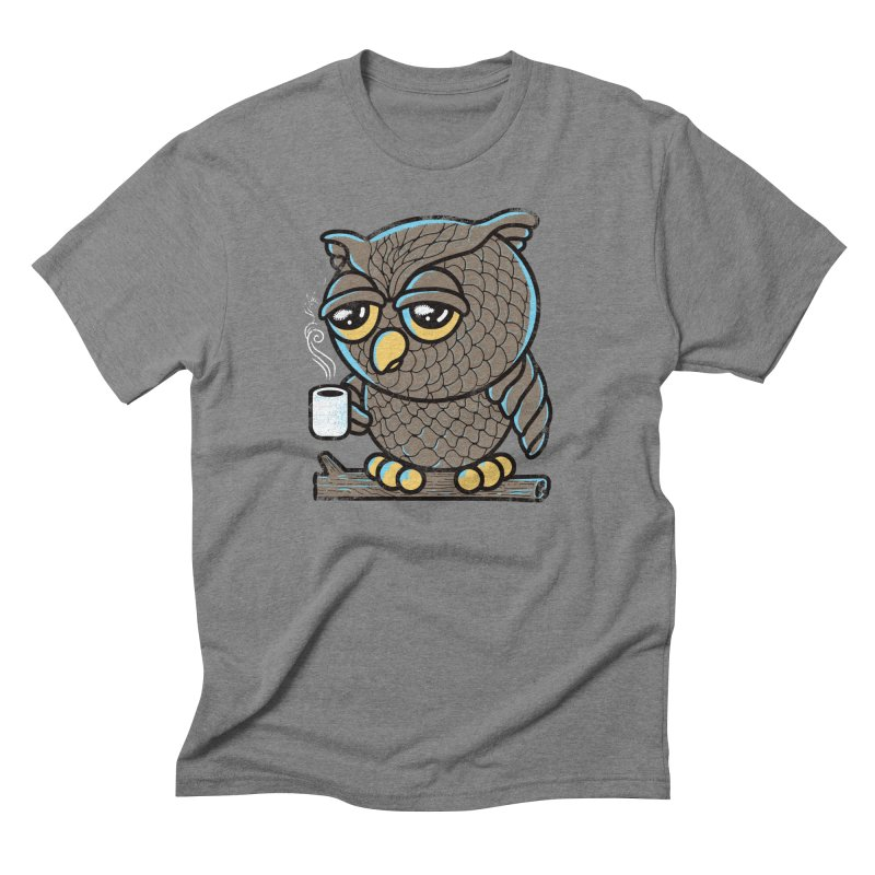 Owl I Want is Coffee Men's Triblend T-shirt by Qetza