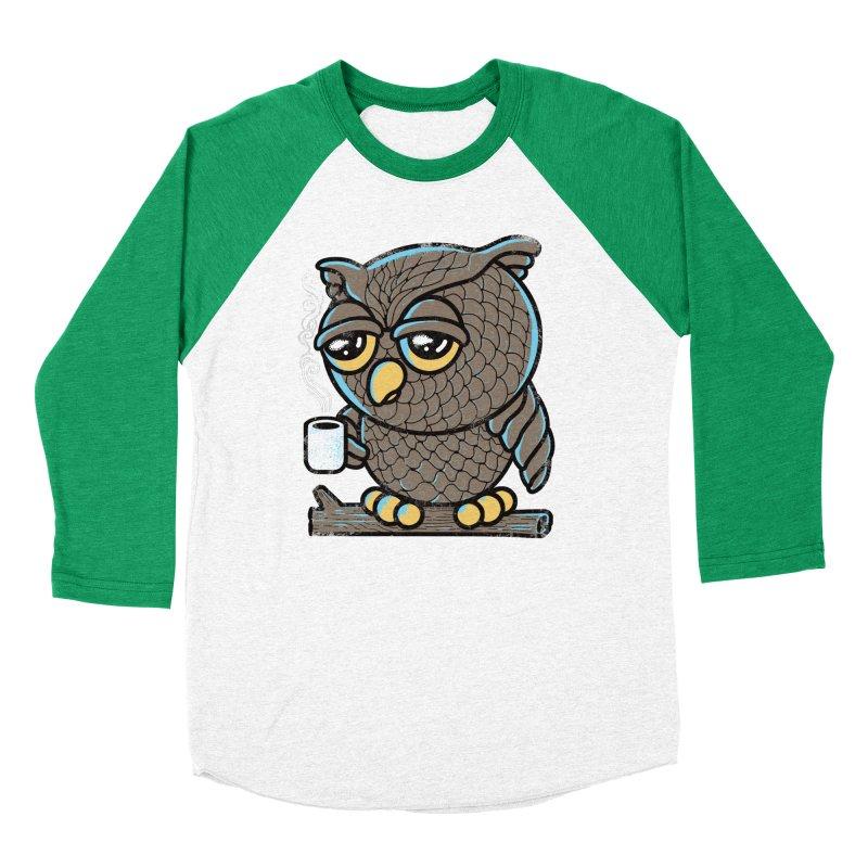 Owl I Want is Coffee Women's Baseball Triblend T-Shirt by Qetza
