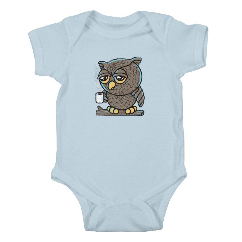 Owl I Want is Coffee Kids Baby Bodysuit by Qetza