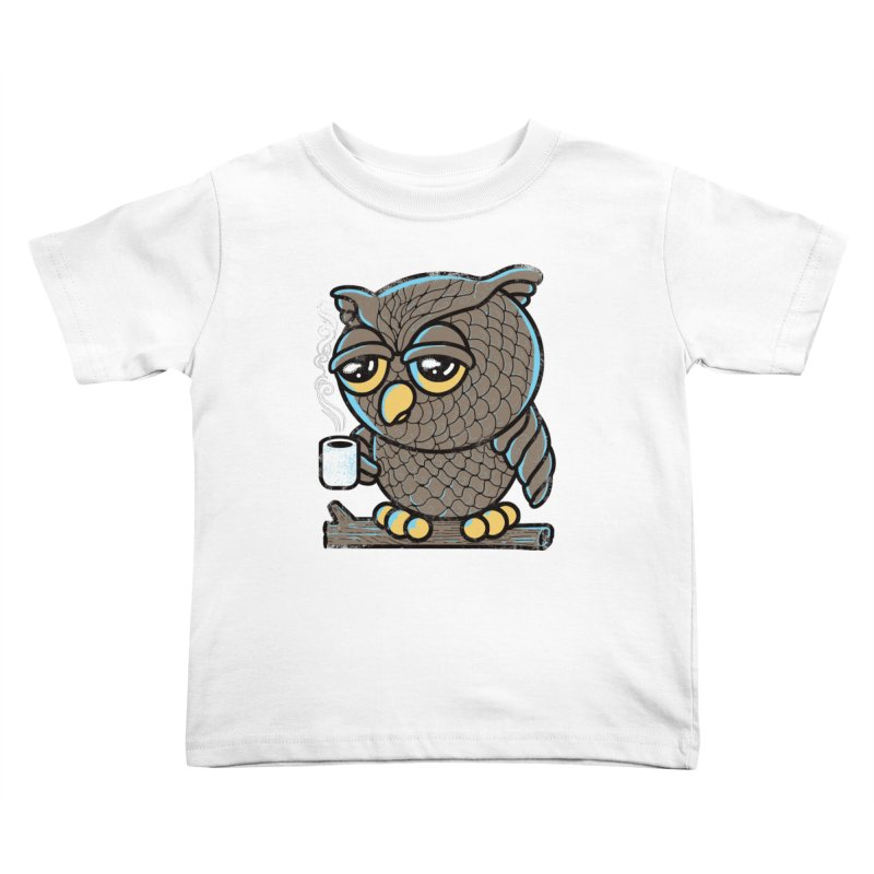 Owl I Want is Coffee Kids Toddler T-Shirt by Qetza