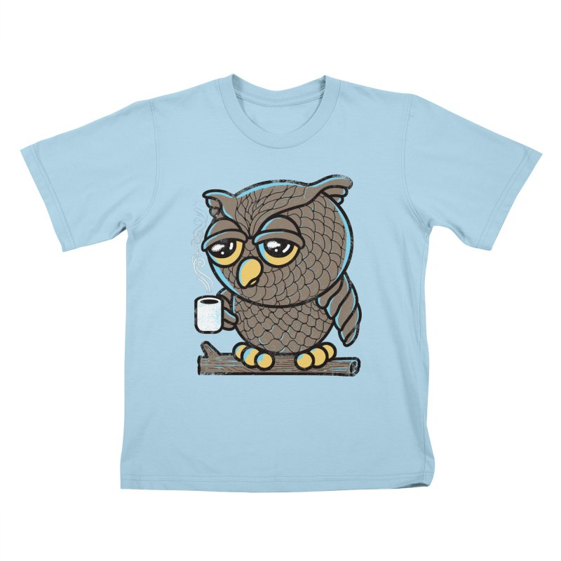 Owl I Want is Coffee Kids T-shirt by Qetza