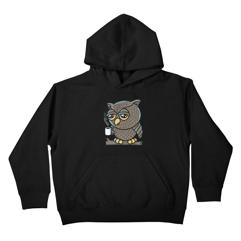 Owl I Want is Coffee Kids Pullover Hoody by Qetza