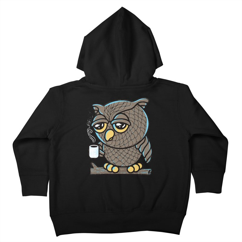 Owl I Want is Coffee Kids Toddler Zip-Up Hoody by Qetza