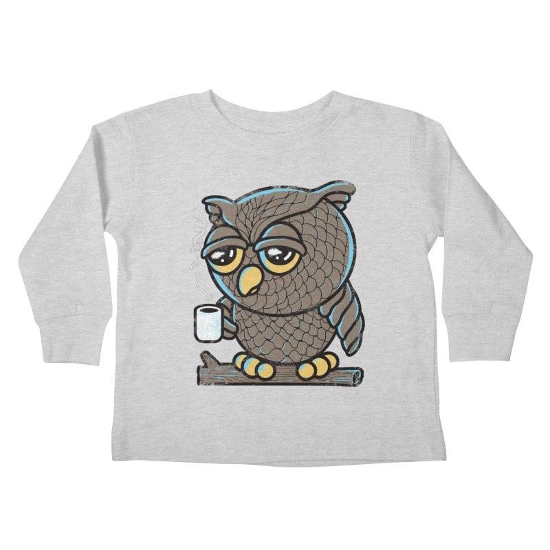 Owl I Want is Coffee Kids Toddler Longsleeve T-Shirt by Qetza