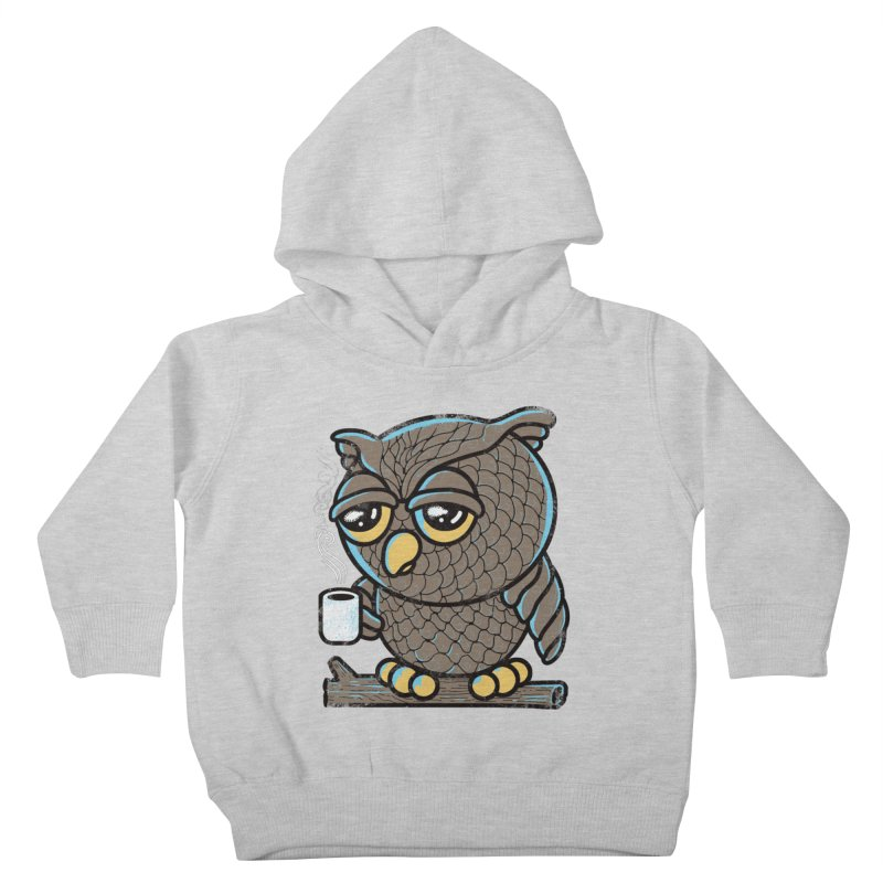 Owl I Want is Coffee Kids Toddler Pullover Hoody by Qetza