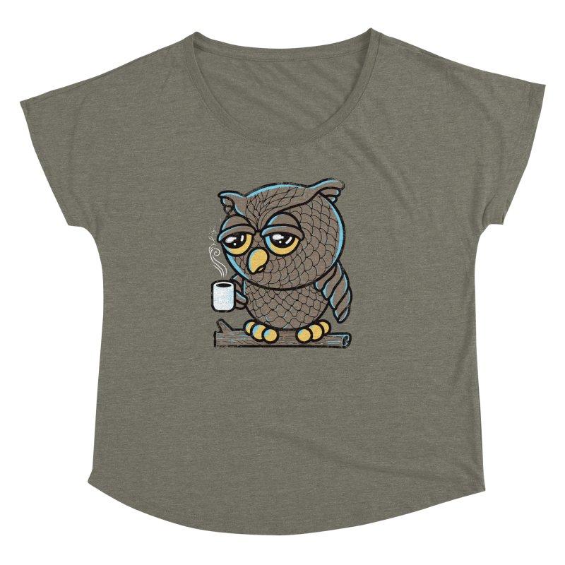 Owl I Want is Coffee Women's Dolman by Qetza