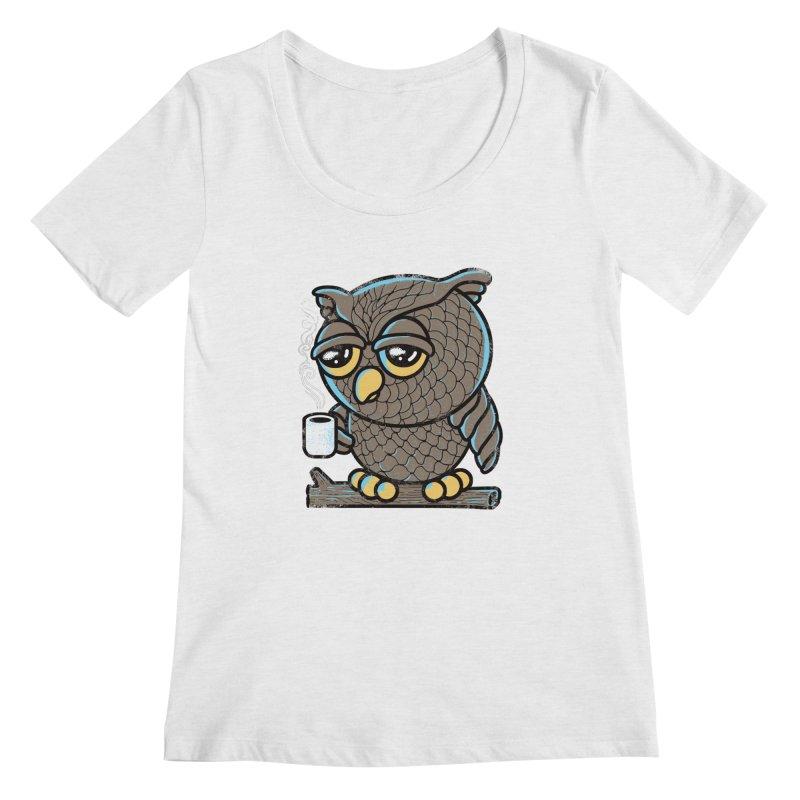 Owl I Want is Coffee Women's Scoopneck by Qetza