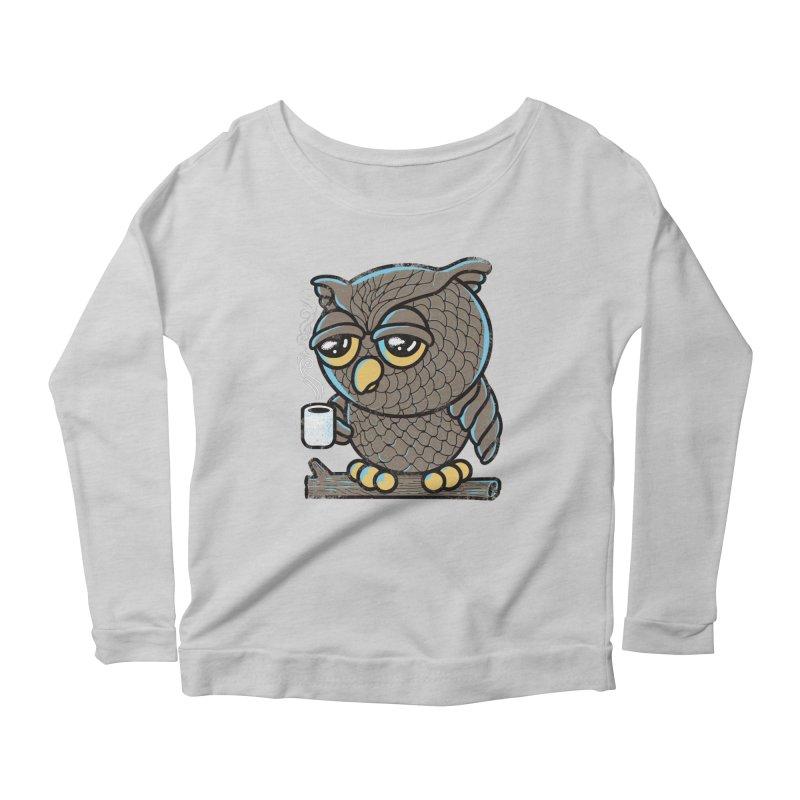 Owl I Want is Coffee Women's Longsleeve Scoopneck  by Qetza