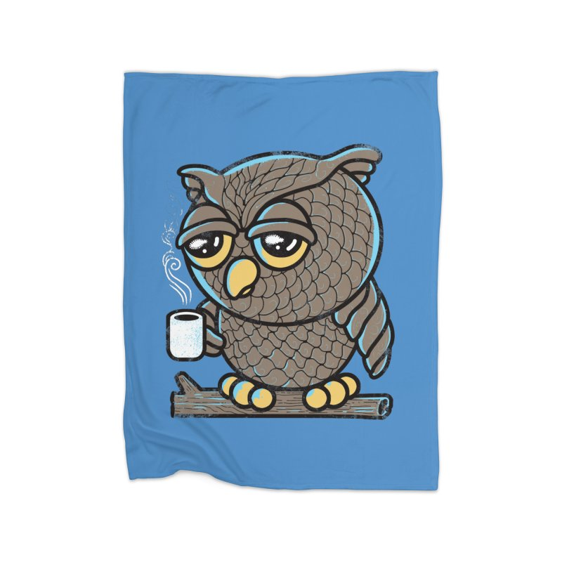 Owl I Want is Coffee Home Blanket by Qetza