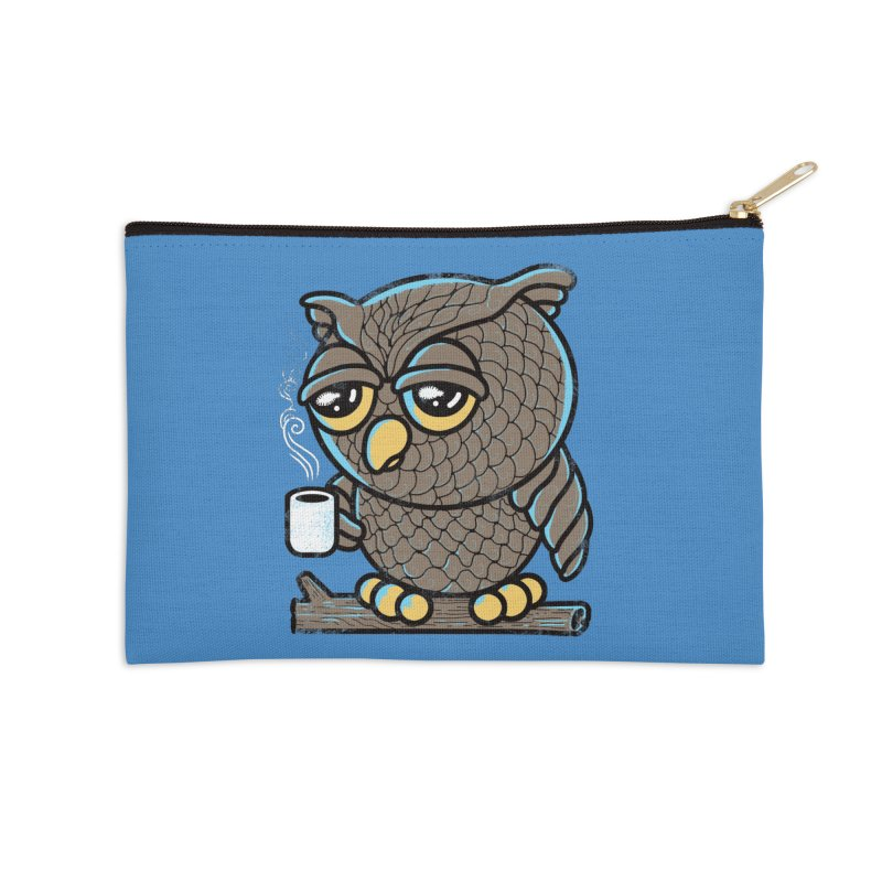 Owl I Want is Coffee Accessories Zip Pouch by Qetza