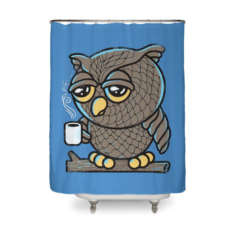 Owl I Want is Coffee Home Shower Curtain by Qetza