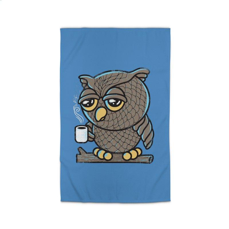 Owl I Want is Coffee Home Rug by Qetza