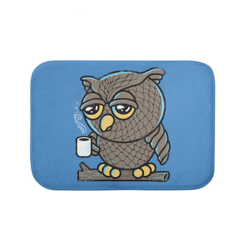 Owl I Want is Coffee Home Bath Mat by Qetza