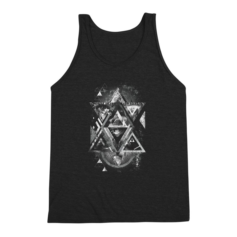 Eyesosceles Men's Triblend Tank by Qetza