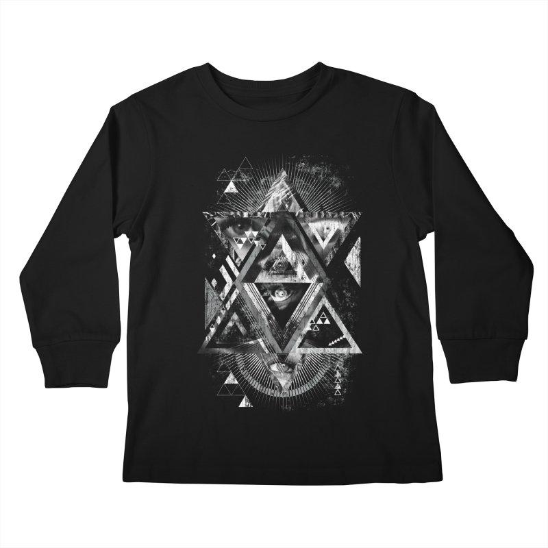 Eyesosceles Kids Longsleeve T-Shirt by Qetza