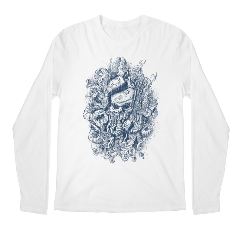 Mermaid of the Deep Men's Longsleeve T-Shirt by Qetza