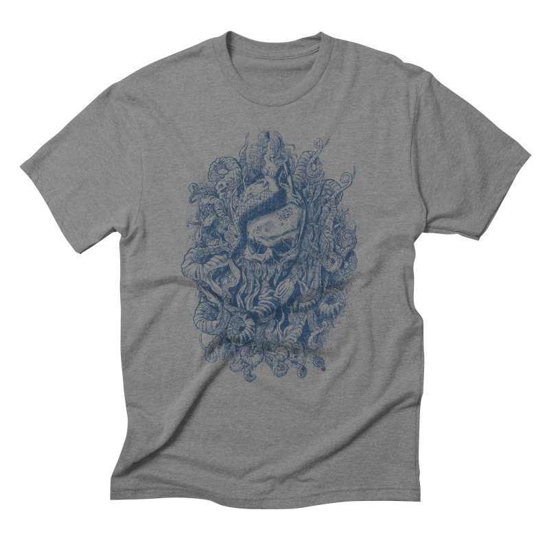 Mermaid of the Deep Men's Triblend T-shirt by Qetza