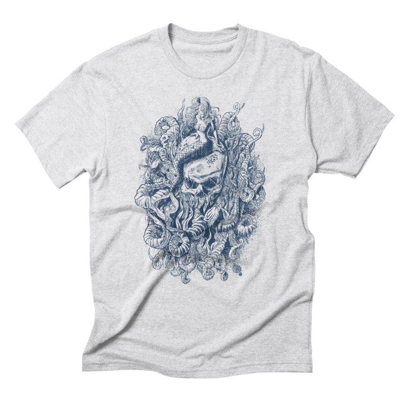 Mermaid of the Deep Men's Triblend T-Shirt by Qetza