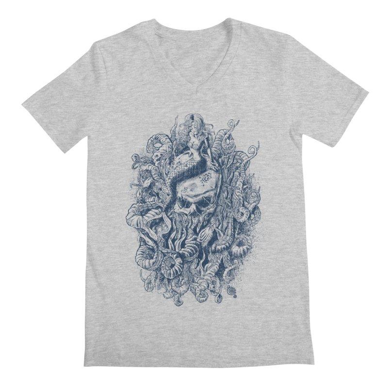 Mermaid of the Deep Men's V-Neck by Qetza