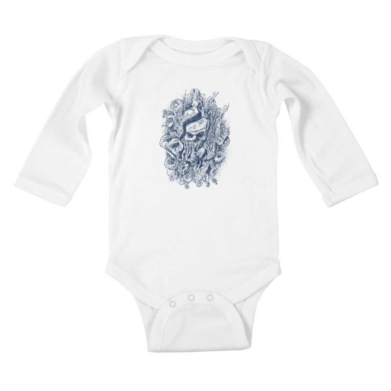 Mermaid of the Deep Kids Baby Longsleeve Bodysuit by Qetza