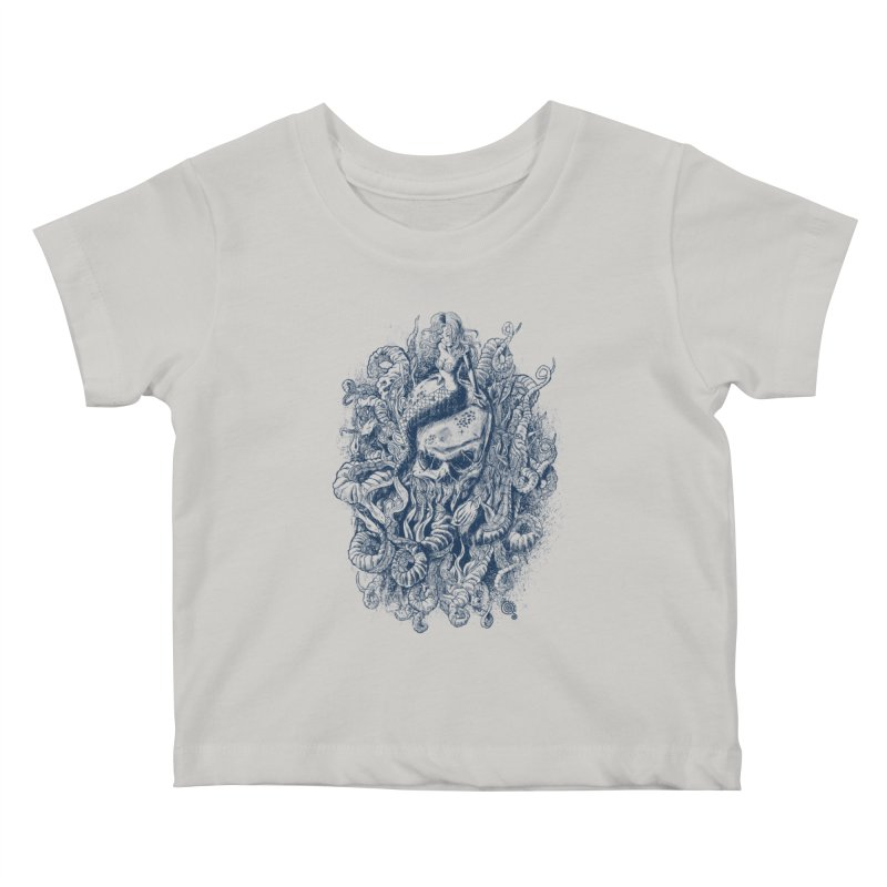 Mermaid of the Deep Kids Baby T-Shirt by Qetza
