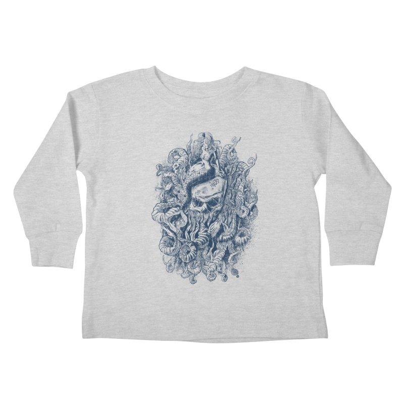 Mermaid of the Deep Kids Toddler Longsleeve T-Shirt by Qetza