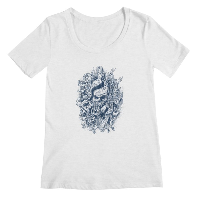 Mermaid of the Deep Women's Scoopneck by Qetza