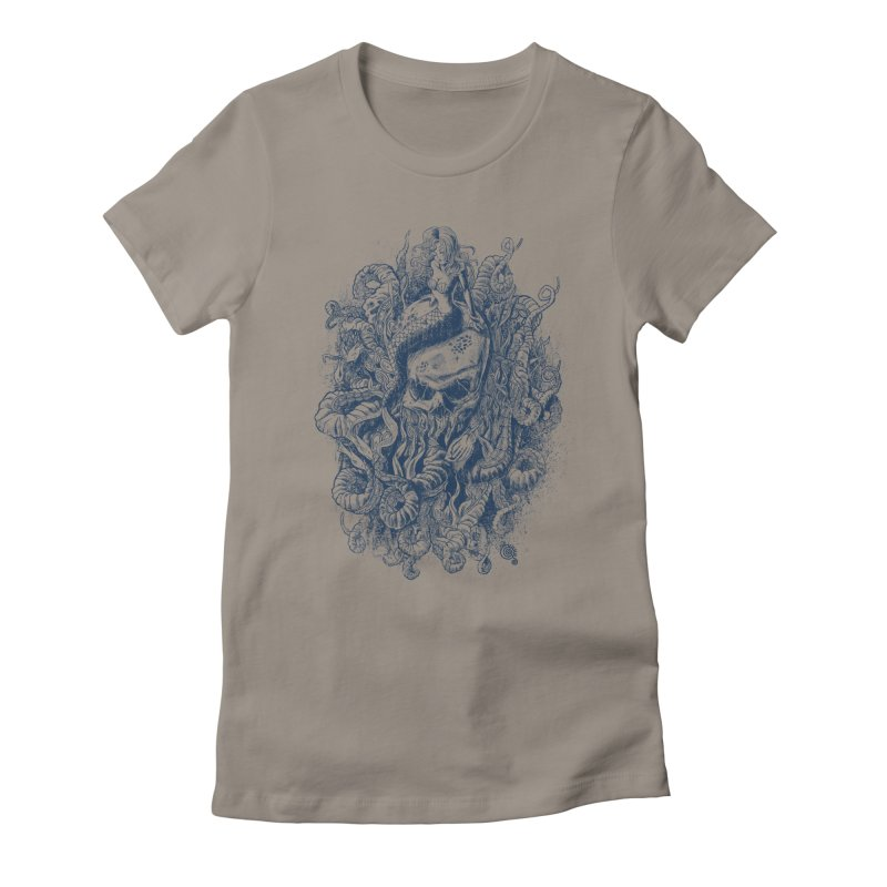 Mermaid of the Deep Women's Fitted T-Shirt by Qetza