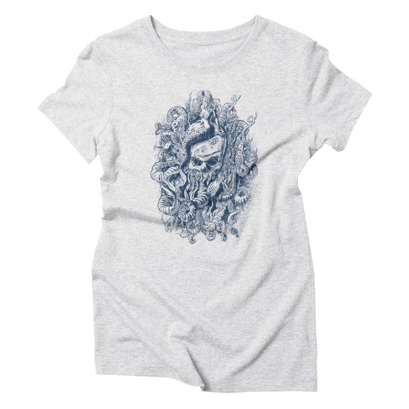 Mermaid of the Deep Women's Triblend T-shirt by Qetza