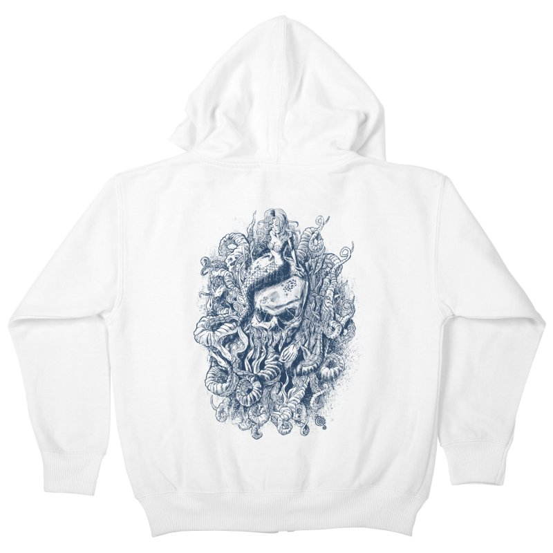Mermaid of the Deep Kids Zip-Up Hoody by Qetza