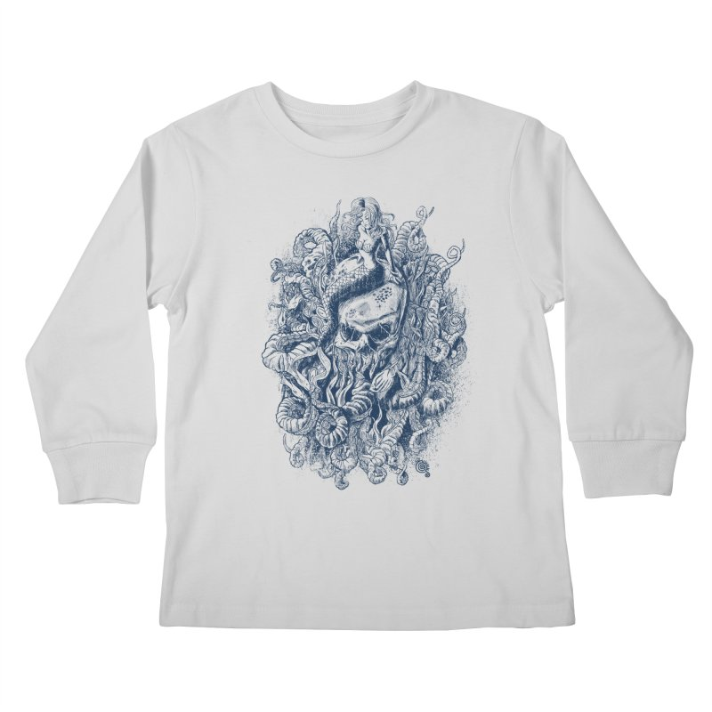 Mermaid of the Deep Kids Longsleeve T-Shirt by Qetza